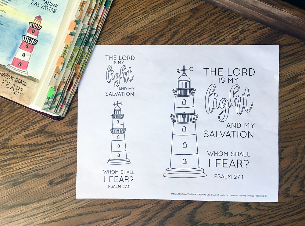 Easy Bible Journaling With Free Psalm 27 Template Tasha Wiginton