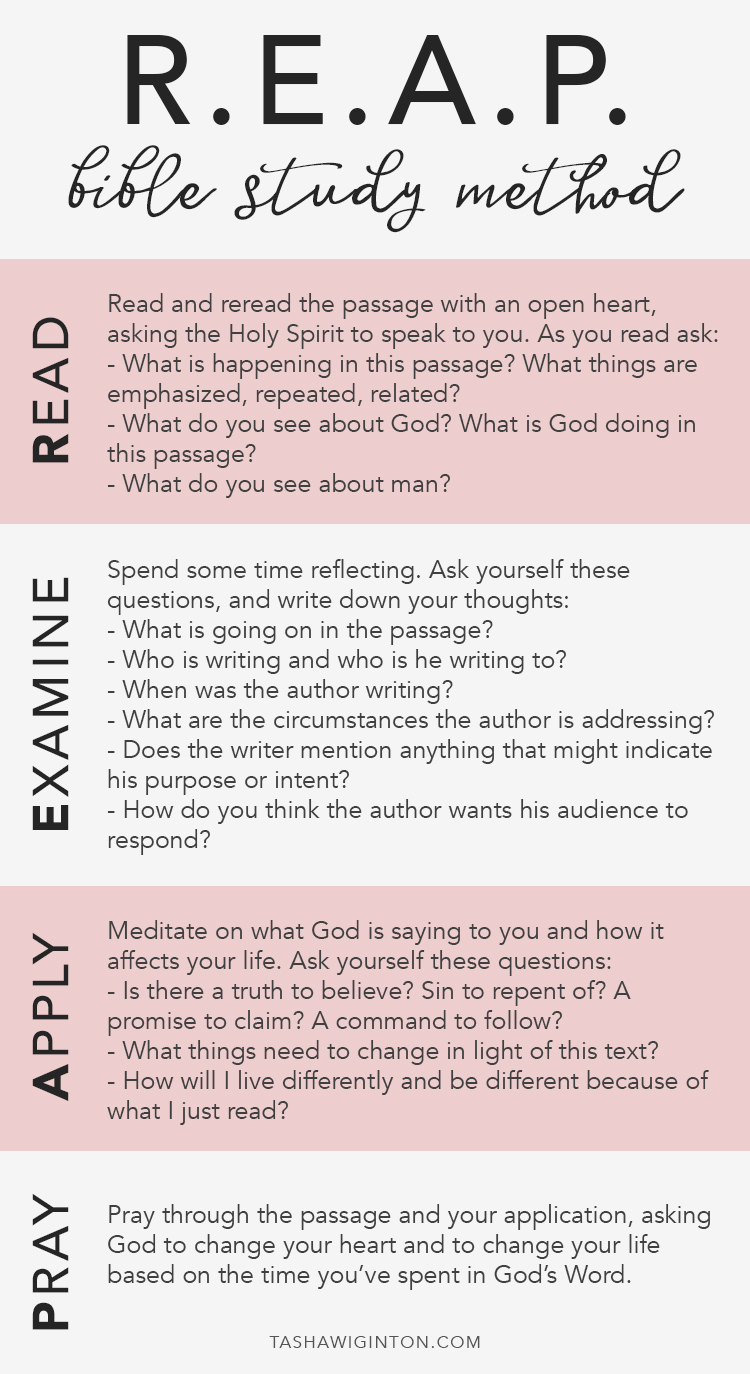 A Quick Guide to the REAP Bible Study Method & A FREE Printable